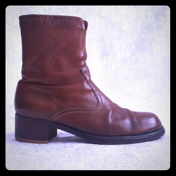 1e4c52c4af637 ⚁Vintage 70s Florsheim Leather Motorcycle Boot